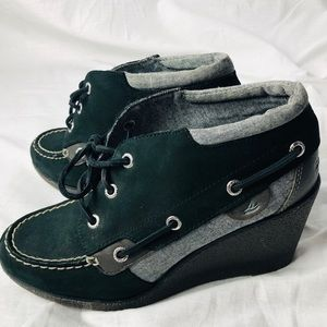 Sperry wedge heels size 7